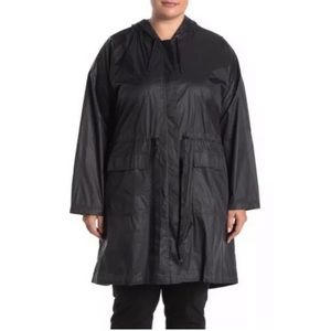 New Eileen Fisher 1x Black Eggshell Nylon Jacket